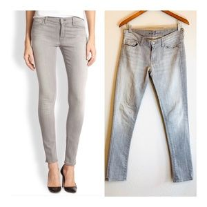 7 For All Mankind Grey Skinny Jeans/Sz:27